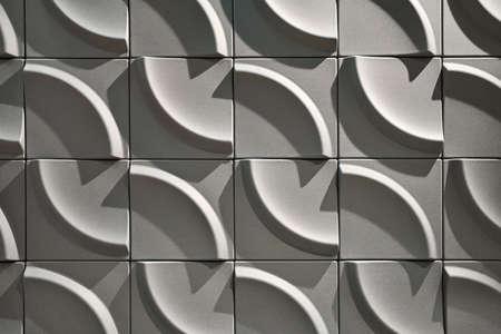 Wall with geometric pattern made from many parts Zdjęcie Seryjne