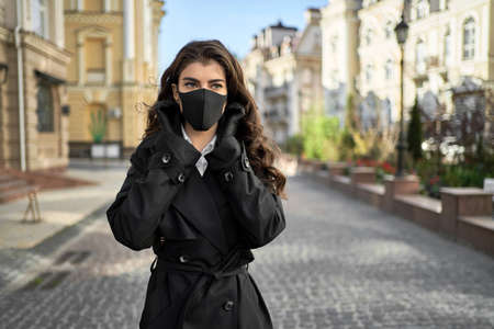 Girl posing outdoors during pandemic