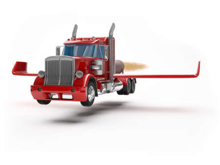 red truck: flying truck