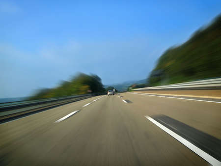 German highway. Long exposure effect. Stock Photo - 2913851