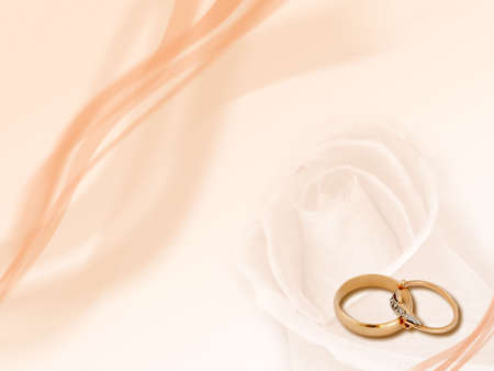 gold woman: Design: two wedding golden rings on smooth background.