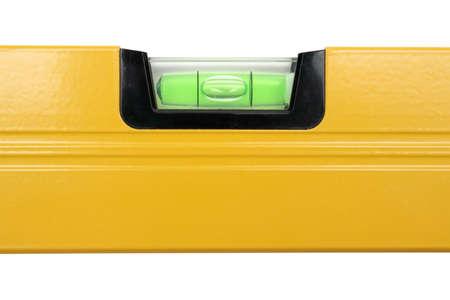 Gelbe Luftblase-Niveau, die isoliert, zentriert Blase
