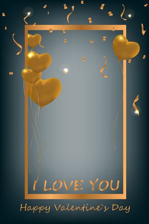 Happy Valentines day. Background. Card. Poster. A heart. Vector. Abstract.