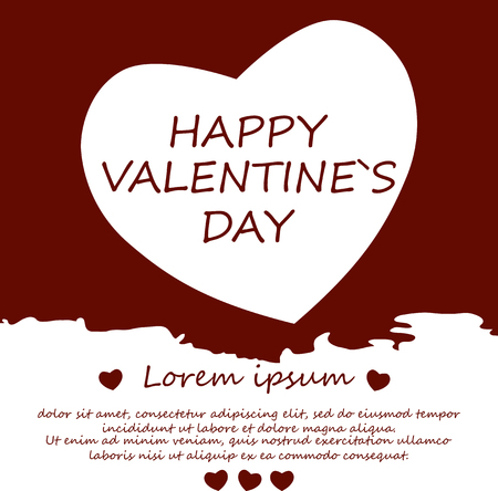 Happy Valentine's day. Background. Card. Poster. A heart. Vector. Abstract. Zdjęcie Seryjne - 69223934