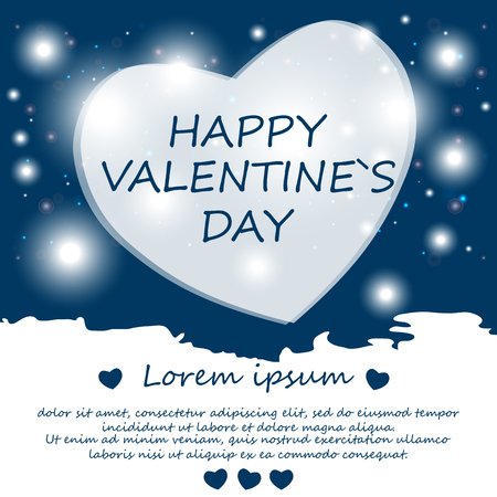 Happy Valentine's day. Background. Card. Poster. A heart. Vector. Abstract. Zdjęcie Seryjne - 69223937