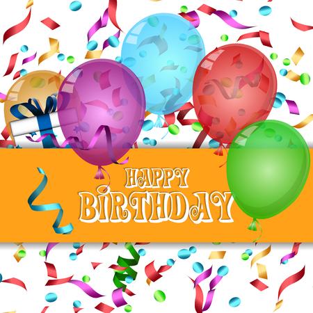 fond d & # 39 ; anniversaire heureux. illustration vectorielle