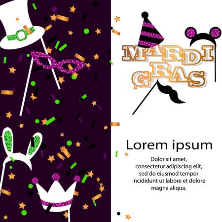 Mardi Gras background. Vector illustration. Ilustrace
