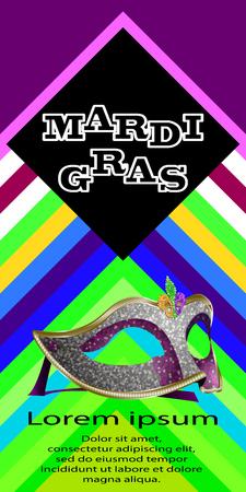 Mardi Gras background vector illustration. Ilustrace