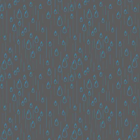 Raindrops seamless pattern. Vector illustration.