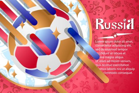 Russian background, world of Russia pattern with modern and traditional elements