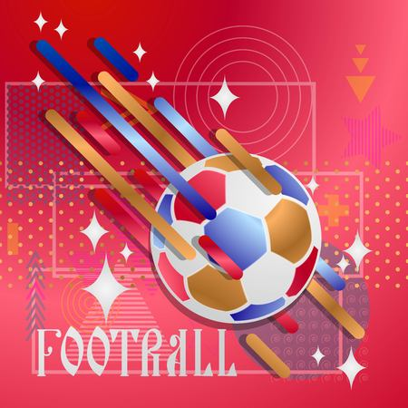 Soccer ball on an abstract background. Vector illustration.