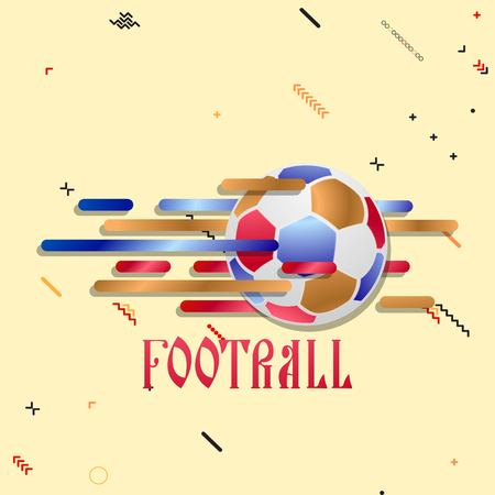 Soccer ball on an abstract background. Illustration