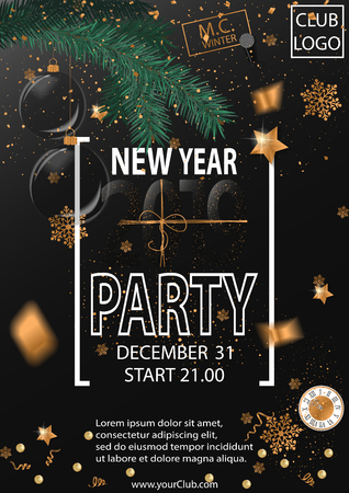 2019 Happy New Year Party Background for your Seasonal Flyers and Greetings Card. Vector illustration