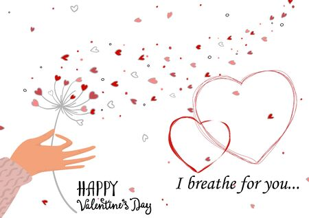 Cute Valentine s day greeting backround for flyers, invitation, poster, brochure, banner. Ilustracja
