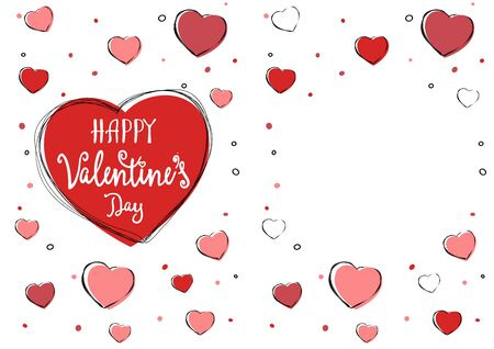 Cute Valentine s day greeting backround for flyers, invitation, poster, brochure, banner Vector illustration Ilustracja