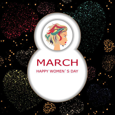 Background cards for greeting, invitation, greeting with women s day, 8 march