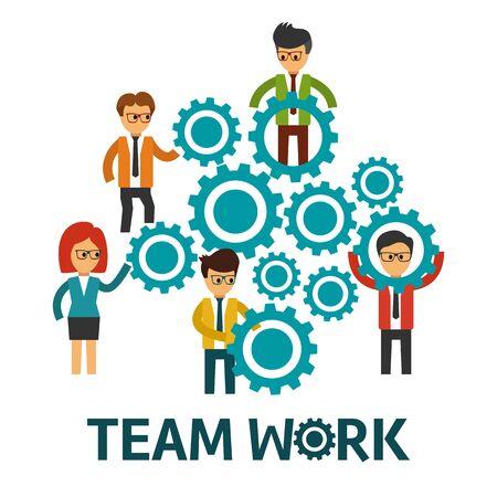 teamwork: Teamwork vector illustration
