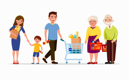 People at the supermarket design