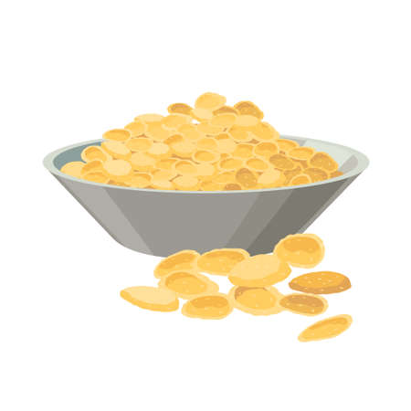 Corn flakes -vector illustration in flat design isolated on white background