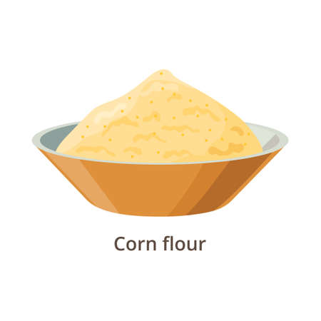 Corn flour vector illustration in flat design isolated on white background