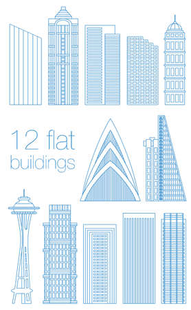 chapiteaux: Set of flat buildings in the capitals of the world