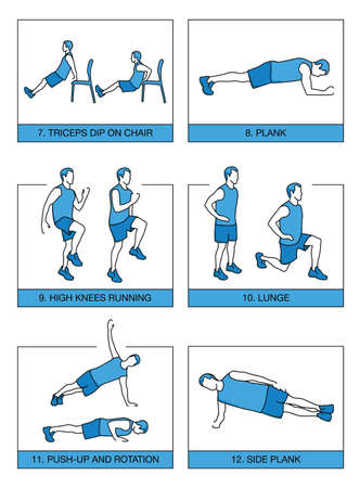 Manual of physical exercises according to the method 7 minutes