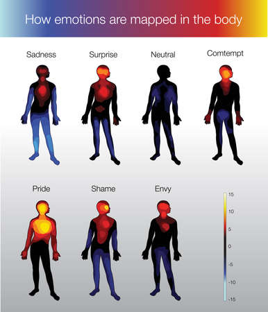 warmth: How emotions are mapped in the body
