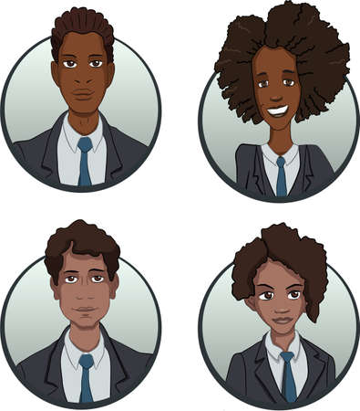multiethnic: avatars of persons of different nationalities are multiethnic images of people