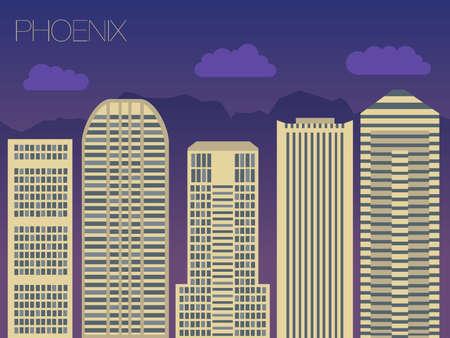 phoenix: la aparición de las calles de las capitales del mundo Vectores