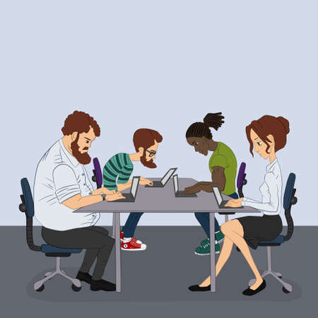 workday: participation in the hackathon - coworking space - sharing of working files and reference materials Illustration
