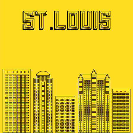 famous cities: Buildings famous cities in the form of lines. Poster or banner for an event in the city. Big city in the USA.