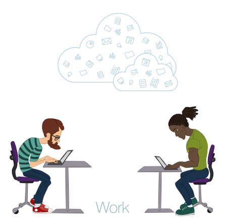 workday: Tools and programs for collaboration. Freelance and remote team of developers and designers. Manager, freelancer, designer, programmer, business analyst