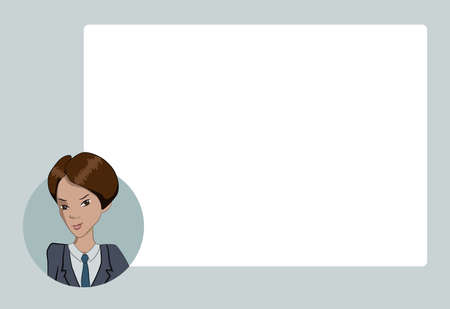 bubble speach: Presentation with business people. Vector illustration character with bubble talk.  Modern flat design concepts for web banners, web sites, printed materials, infographics, startup, marketing.