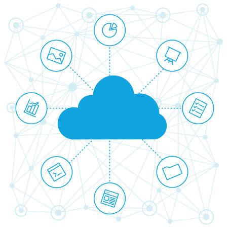 Udostępnianie plików roboczych i odniesienia projektu Materiały pracowników. Narzędzia dla biznesu i pracy. technologie i usługi w chmurze na urządzeniach. Social networking i media, technologie i trendy.