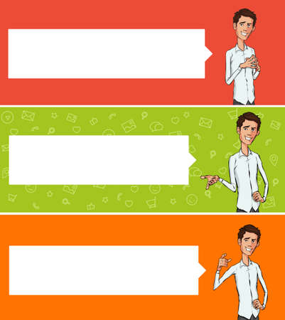 vector banners or headers: Vector illustration for web banners and promotional materials. Website headers promotion banners. Flat design concept for cloud computing, mobile payments and project team. Showing mobile phone. Illustration