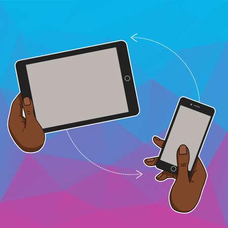 timing the market: Flat design concept for website template - mobile app, smartphone, social media, business. Web banners or headers vector illustration. Web banner with laptop, tablet, mobile