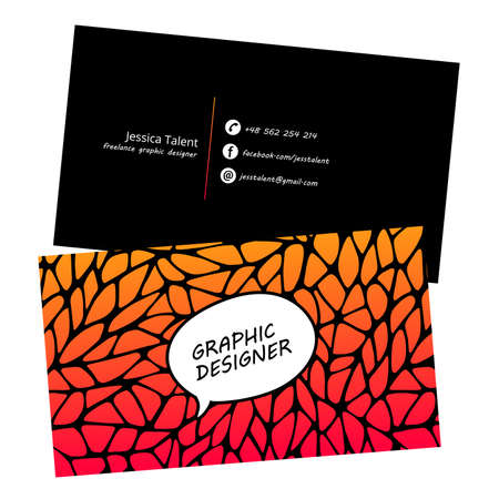 Black business card with a geometric pattern. Gold polygonal texture. Corporate identity template in trendy colors with geometric shapes for modern cute romantic design. Art deco style.Vector. EPS 10