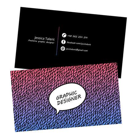 Blue Modern Business-Card Set | EPS10 Vector Design