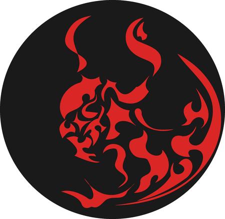 tatoos: Red Devil Tribal   Illustration