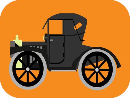 hiway: Classic Car Cartoon Illustration