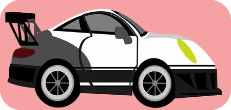 hiway: Sport Car Cartoon Illustration