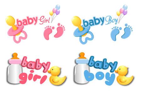 baby girl: baby boy and girl