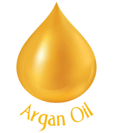 oil drops: Argan oil