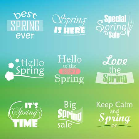 spring break: Spring Logo Illustration