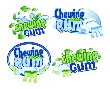 chewing gum: Gum icon Illustration