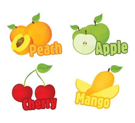 mango slice: Fruit Illustration