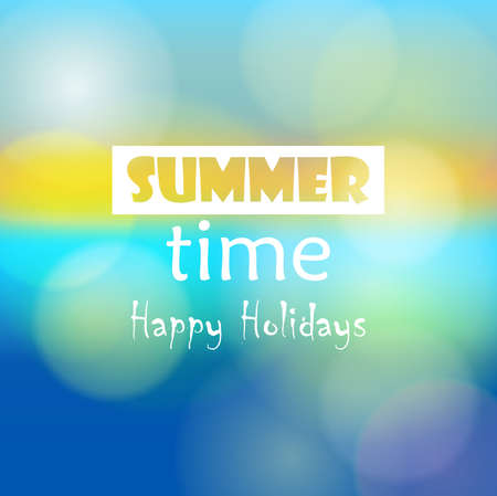 summer break: Summer Time Illustration