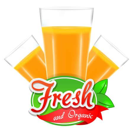mango: Świeże i naturalne soki Ilustracja