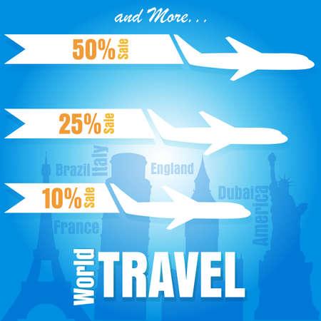 plane vector: World Travel