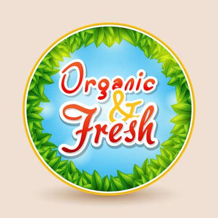 yoghurt: Organic and Fresh Illustration